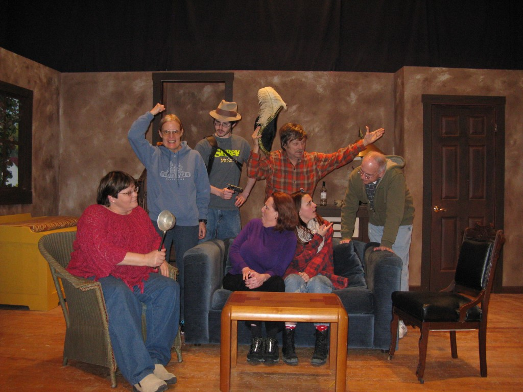 """""""Ghost Story"""" Cast: Seated left to right: Coleen Kubit, Judy Lombardo, Ellie Delap. Standing left to right: Margy Fletcher, James Banta, Kevin Shadle, James Hayes. (Submitted photo)"""