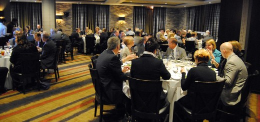 A sold out crowd fills Ruth's Chris Steak House during the Advocates for Children & Families fundraiser on Jan. 29. (Photo by Robert Herrington)