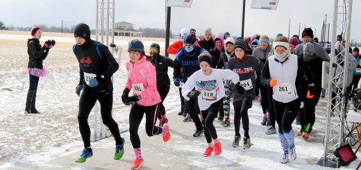 Freezing temperatures and snow couldn't keep the inaugural Melt the Trail 5k from happening at Grand Park on Feb. 14.
