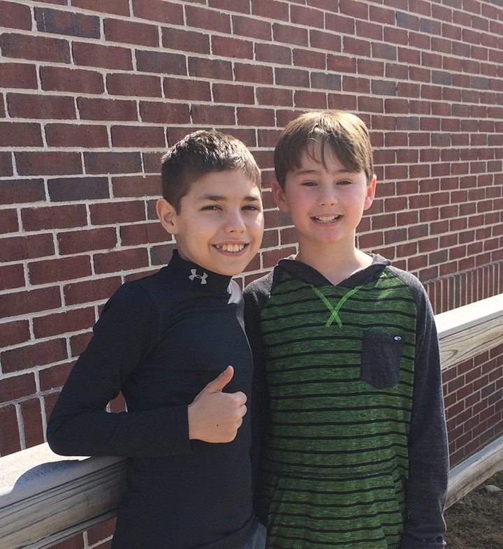 Drew Weber (left) and Reece Kepner (right) at Fall Creek Elementary. (Submitted photo)