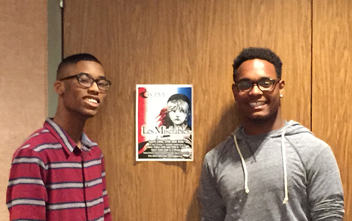 """Tyree Goodner and Quentin Beverly take on challenging """"Les Miserables"""" roles. (Submitted photo)"""