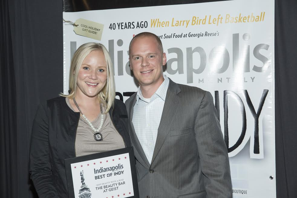Erin and Chad Hunt, owners of the Beauty Bar in Geist. (Submitted photo)
