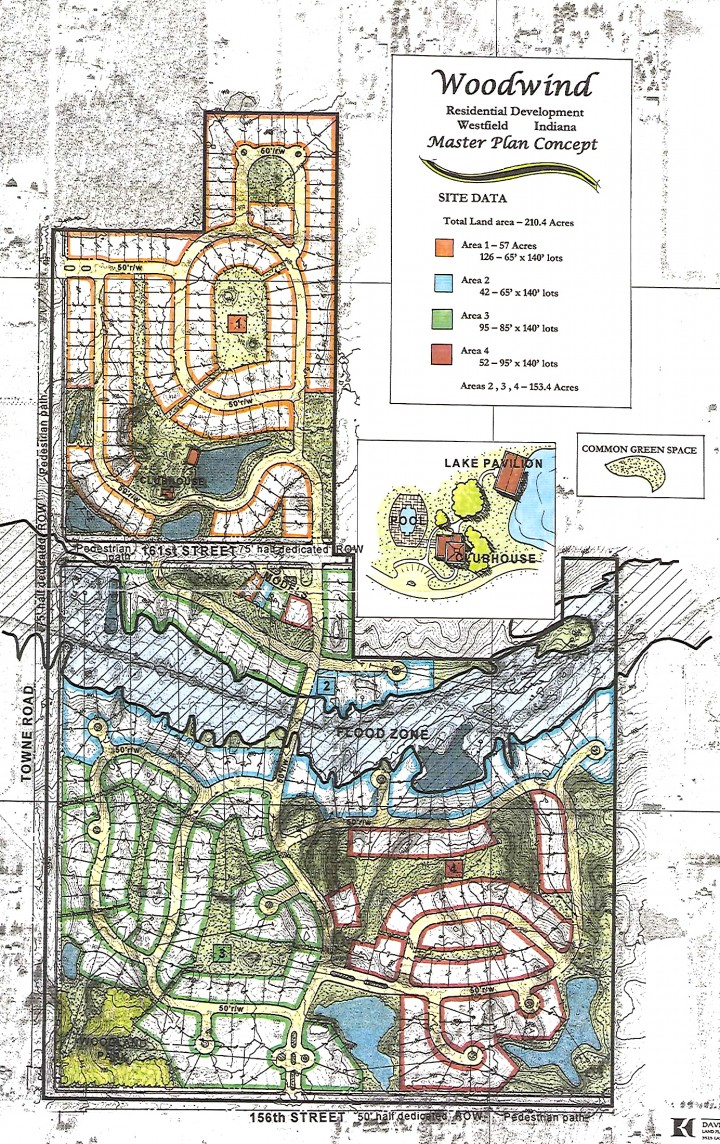The concept plan to transform Wood Wind Golf Course into a 315-lot subdivision. (Submitted)