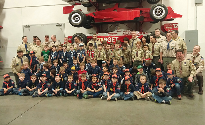 top indycar racing team hosts pinewood derby current
