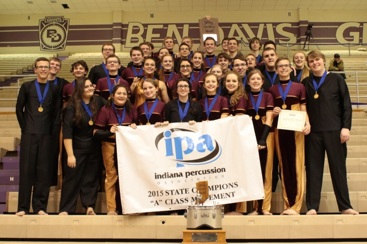 Zionsville Indoor Percussion won its first state championship at the Indiana Percussion Association state finals March 21 at Ben Davis High School. (Submitted photo)