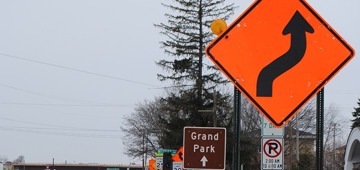 Construction signs along Westfield Road should be gone by the end of the year or in early 2016, as the intersection of U.S. 31-Ind. 32 is the last major project. (Photo by Robert Herrington)