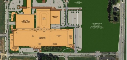 The proposed layout of sports complex. (Submitted rendering)
