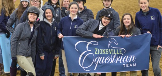 The Zionsville Equestrian Team middle school group finished in third place at the zone competition, and the high school team finished in fifth place.
