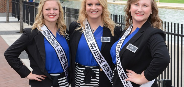 Abby Montgomery, Shelby Swain, Lena Peters are part of the 500 Princess program (Photo by Theresa Skutt)