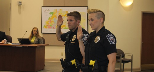 New recruits Thadd Halton and Jessica Smith. (Photo by James Feichtner)