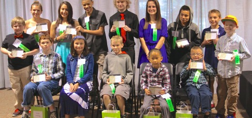 Fifteen Westfield students were honored on April 22 through the Westfield Youth Assistance Program. They were: Will Whiteman (standing, from left), Tiffany West, Louna Alsabia, Tehren Don Wiley, Matthew Lohman, Sara McGovern, Victor Cortez, Ben Robison, Elliott Ogle; (sitting, from left) Drew Staley, Aimee Gonzalez, Christian Dryden, Tai Shea and Ian Keller. (Photo by Sadie Reecer)