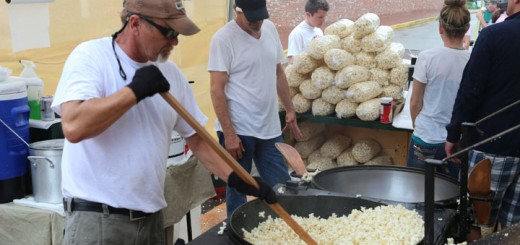 Bill Rairigh makes kettle corn to sell at Brick Street Market. The event is among many that receives a grant from the Boone County CVB. (Photo by Ann Marie Shambaugh)