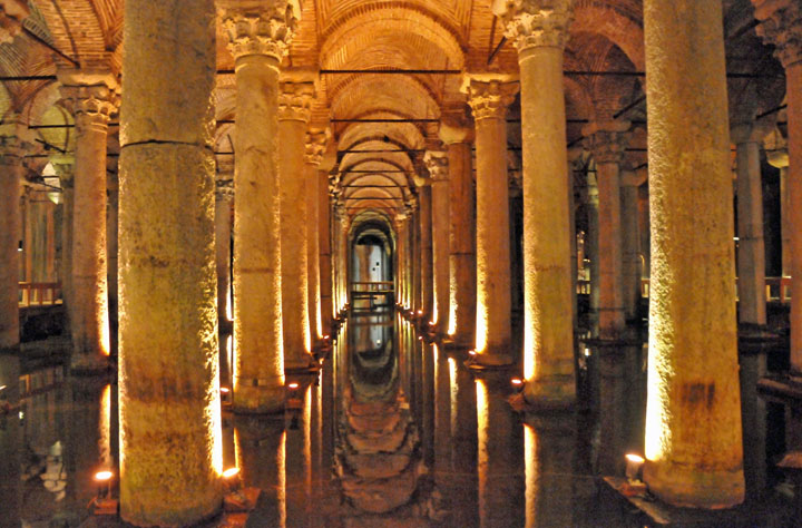 Basilica Cistern in Istanbul, Turkey (Photo by Don Knebel)