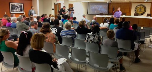 Jeff Rose tells the crowd his story. His son, Avrey, died of drug-related causes in April. (Photo by Navar Watson)