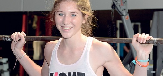 Ellen Joseph, a WHS senior, talks about her experience with weightlifting and how she got started. (Photo by Teresa Skutt)