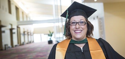 Former stay-at-home mom Robin Lucas achieves her lifelong dream of receiving a college degree.(Submitted photo)