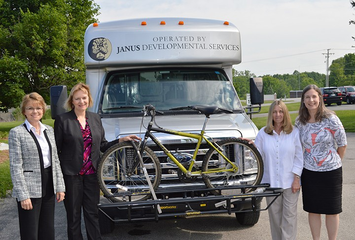 From left: Debbie Laird, vice president of development and transportation, Christina Sorensen, president and CEO, Elaine McGuire, transportation manager and Christy Campoll, director of transportation. (Submitted photo)
