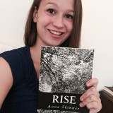 "Anna Skinner with her book, ""Rise"" (Submitted photo)"