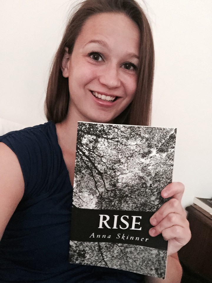 """Anna Skinner with her book, """"Rise"""" (Submitted photo)"""