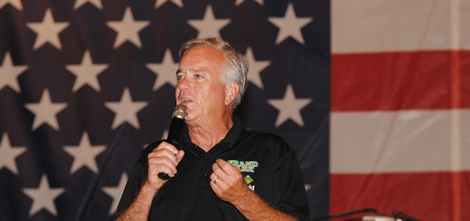 Mayor Andy Cook welcomes guests at the 2014 Westfield Rocks the 4th celebration at Asa Bales Park. (File Photo)
