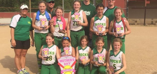 The team poses with their trophies after winning the Mothers Day Celebration in Mooresville on May 9. Back Row: Amy Klink, Scott Gentry, Blake Collinsworth and Matthew Deck. Middle Row: Avery Parker, Isabelle Kemp, Alyssa Crockett, Katelin Dollens and Natalie Deck. Front Row: Zoey Watson, Zoe Klink, Maggie Roh, Emily Gentry and Emmrey Collinsworth. Not Pictured: Audrey Kainrath