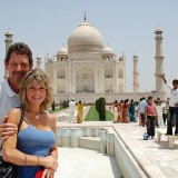 John Cinnamon with wife Ann Craig-Cinnamon at the Taj Majal in India. (Submitted photos)