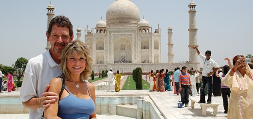 John Cinnamon with wife Ann Craig-Cinnamon at the Taj Majal in India. (Submitted photos)