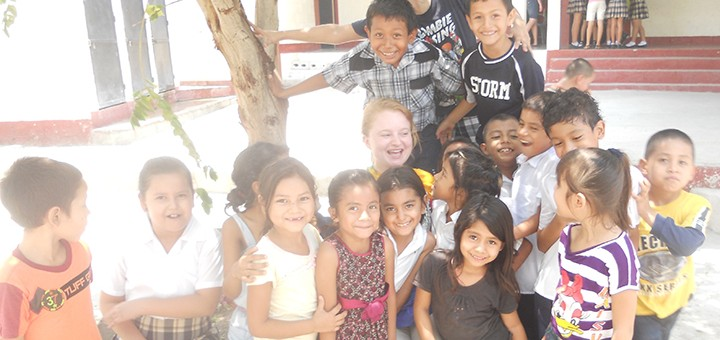 Alexis Kapsalis (center) on a previous mission trip in Guatemala. (Submitted photo)