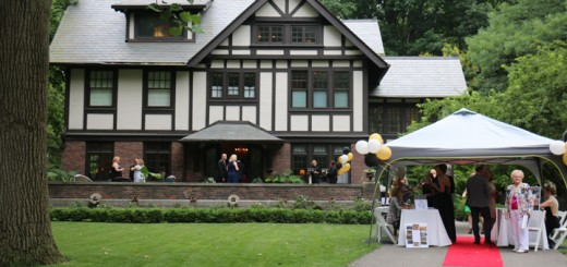Supporters of the Booth Tarkington Civic Theatre gathered at the author and dramatist's former home in Indianapolis to celebrate the theatre's 100 birthday (Photos by Sam Robinson)