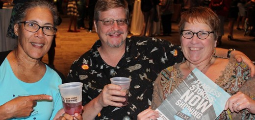 """""""Where's Amy?"""" had too much fun chatting with Carmel Palladium pals Maven Borton, Steve Crowell and his wife Grace Crowell. They were strumming up a game plan for the IFF while sipping Sun King beverages."""