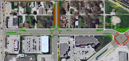 An overview rendering of the completed construction at Lantern Road and Commercial Boulevard.
