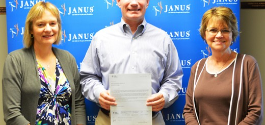From left: Janus President and CEO Christina Sorensen, Mark LaBarr, government and community relations manager for Duke Energy, and Debbie Laird, senior vice president of development and transportation at Janus. (Submitted photo)
