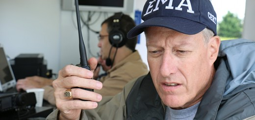 Mike Alley, the RACES officer in Hamilton County, took part in this year's 24-hour ham radio event at Quaker Park in Westfield. (Photo by Sam Robinson)