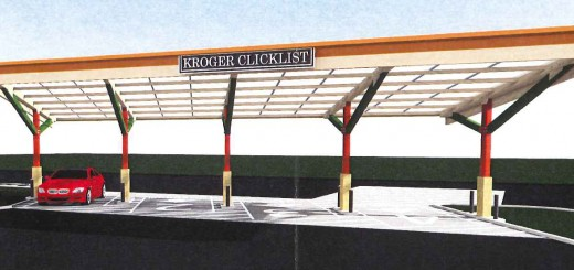 A rendering of Kroger's new pickup area. (Submitted photo)