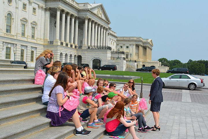 The girls from Troop 1880 talked with Indiana U.S. Rep. Susan Brooks during their trip to D.C. (submitted photo)