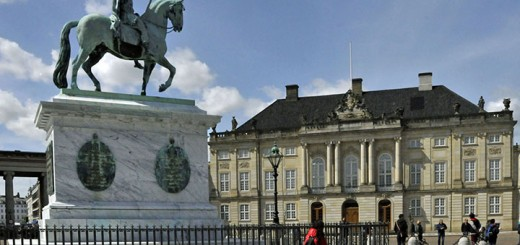 Statue of Frederick V in Amalienborg Palace. (Photo by Don Knebel)