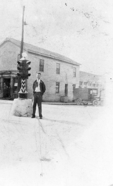 Leslie Haines invented a traffic signal that is on display at the Carmel Clay Historical Society Museum. (Photo courtesy of the Carmel Clay Historical Society)