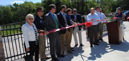 Carmel officials cut the ribbon that officially opened the dog park.