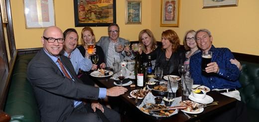 Tom Hardin, Tom Chandler, Megan Chandler, Charlie Miraglia, Tracy Miraglia, Micki Stirsman, Kim Hardin, and David Stirsman enjoy dinner and drinks. (Photos by Theresa Skutt)