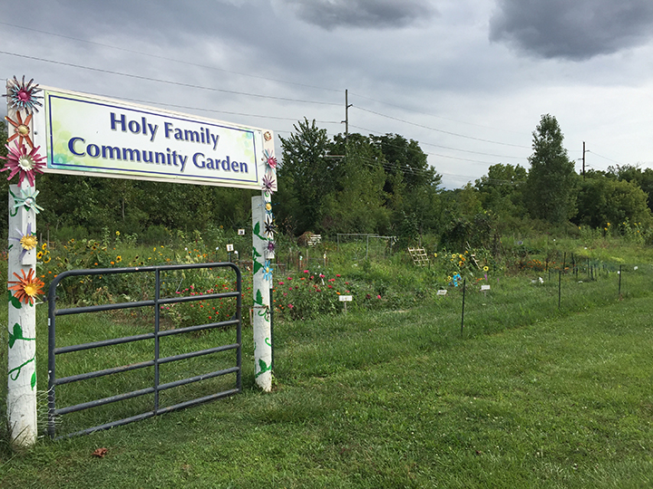 The Community Garden at Holy Family Episcopal Church. (Photo by James Feichtner)