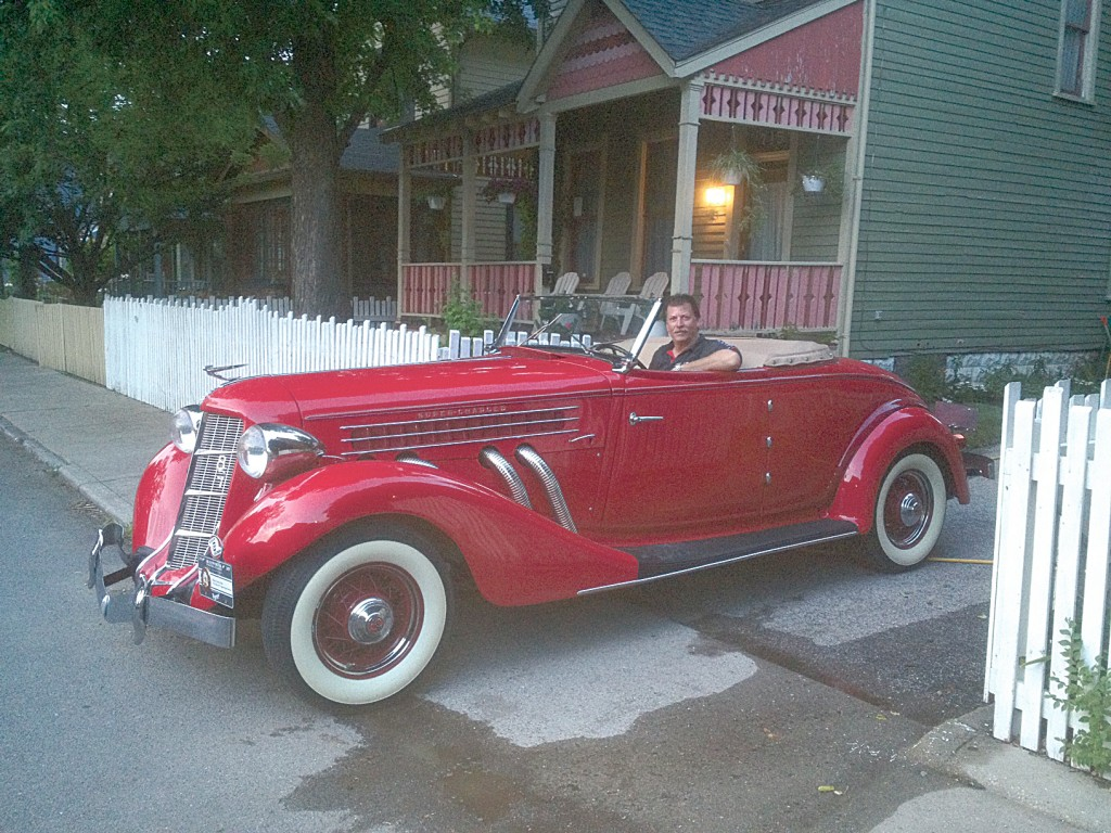 Shawn Miller in a 1935 Auburn 851 Supercharged Cabriolet. (Submitted photo)