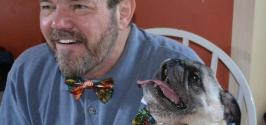 Mark Bailey and his now late pug, Claude. (Submitted photo)