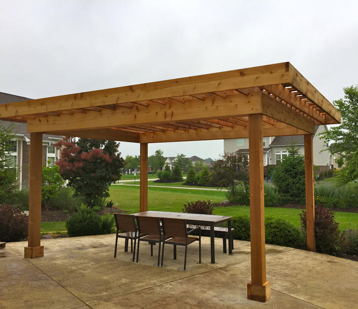 Column shade and how the pergola won current in carmel - Sluier shading pergola ...