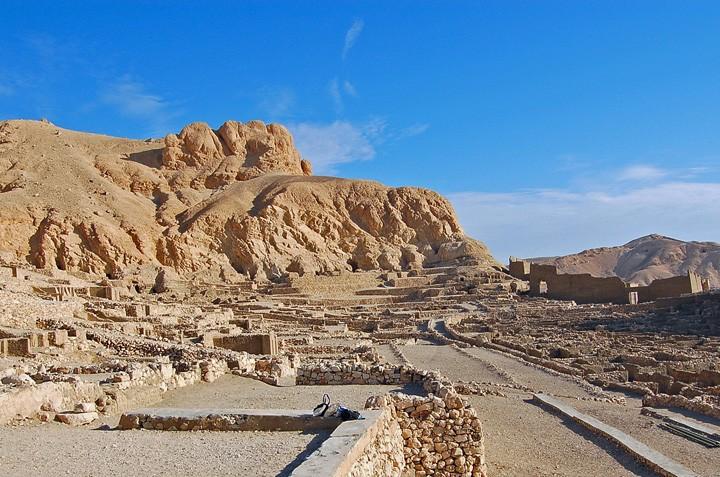 Ruins of Deir el-Medina, near Luxor, Egypt (Photo by Don Knebel)