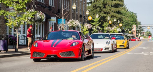 A Ferrari, Porsche and Lamborghini make their way through Carmel. (Submitted photos)