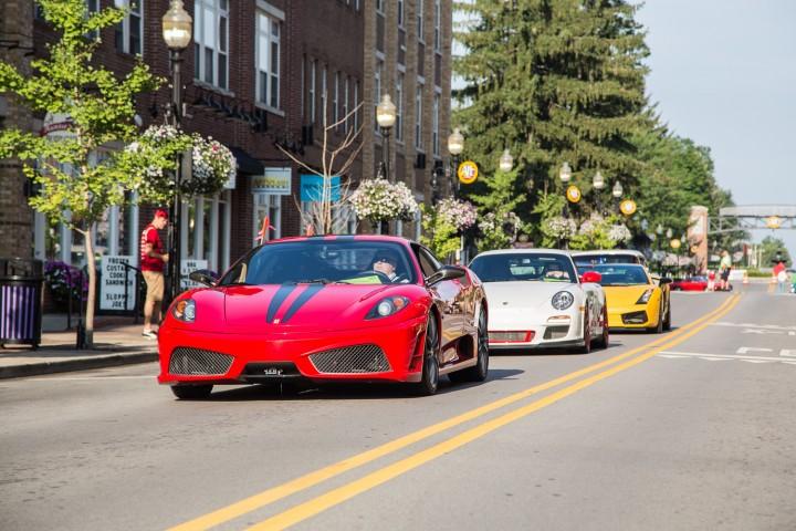 A Ferrari, Porsche and Lamborghini make their way through Carmel. (Submitted photos)
