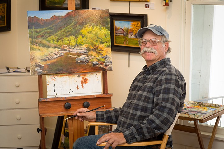 """The """"Back Home Again"""" exhibit will feature art by local artists, such as Rodney Reveal. (File photo)"""
