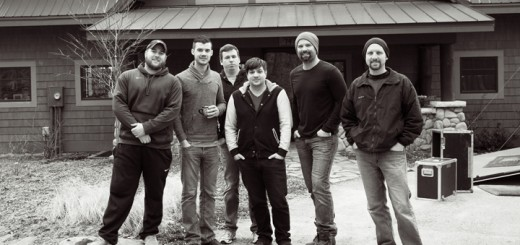 """In late winter of this year we stole away to a secluded lake cabin to track the record with our producer, Thom Daugherty,"" said Hunter Smith. This is a photo from their time at the cabin. From left: Alex Reiff, Justin Langebartels, Kyle Whiteley, Thom Daugherty, Hunter Smith and Ethan Ehrstine. (Submitted photo)"