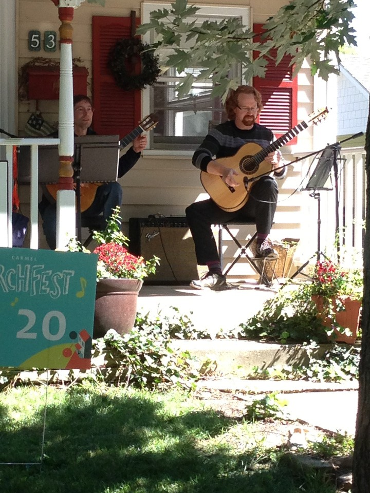 The band After Dinner Mint performing at last year's first PorchFest. (File photo)