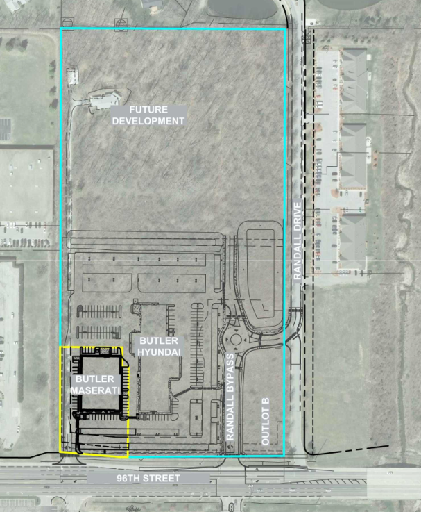 A new car dealership is planned on 1.43 acres along 96th Street. (submitted photo)